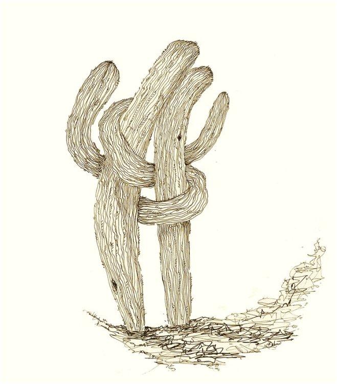 Cacti+Lovers - Riso Print