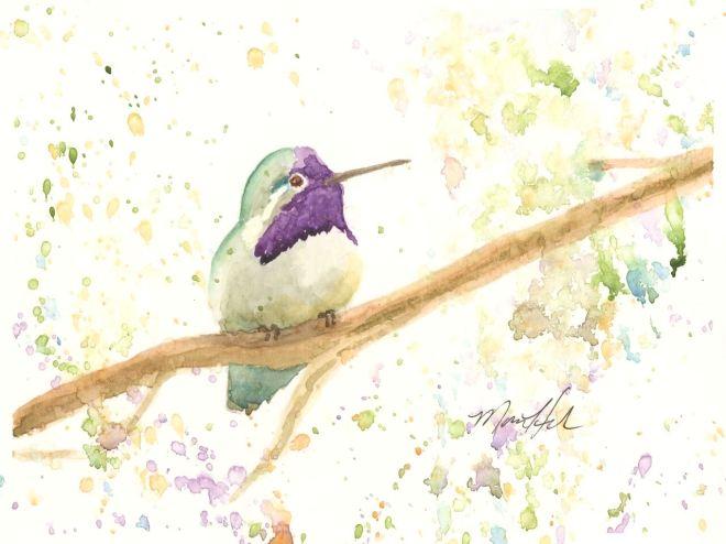 HouleMona_Iridescent Beauty_watercolor_8x10_150