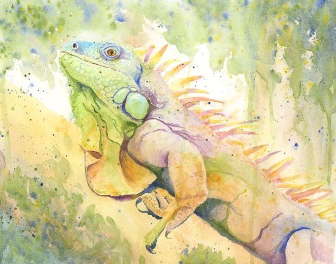 HouleMona_Spike_watercolor_11x14_400 (1)