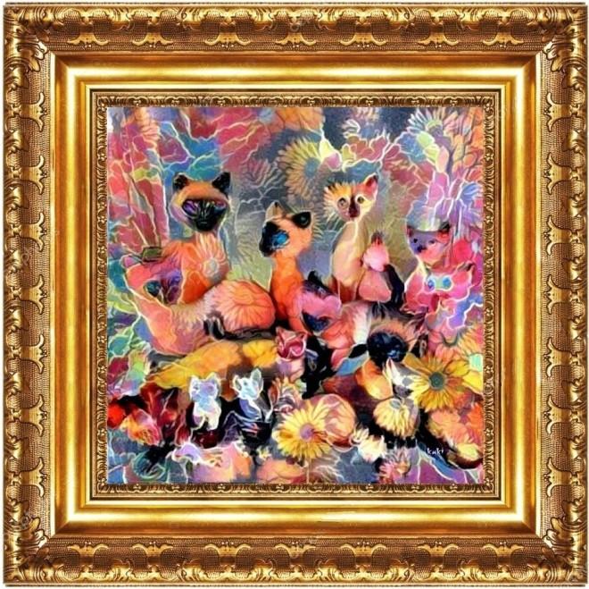 kh garden gossip in a frame