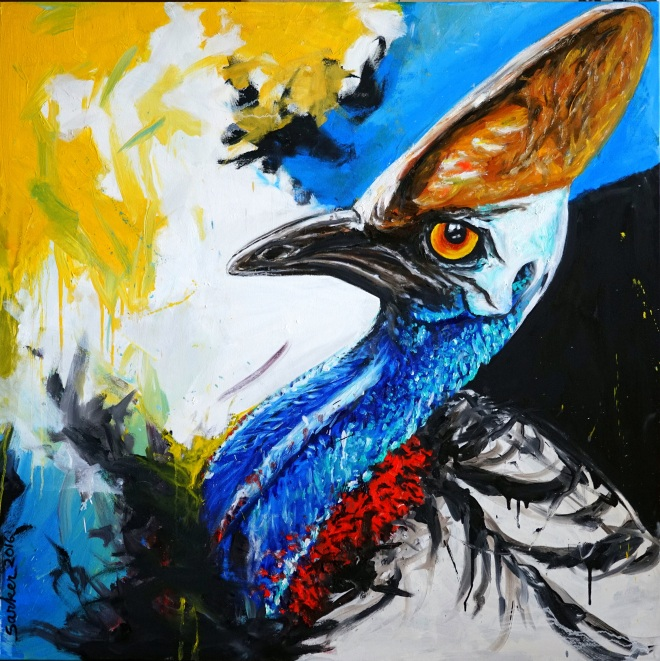 Cassowary, Oil on Canvas, 48x48