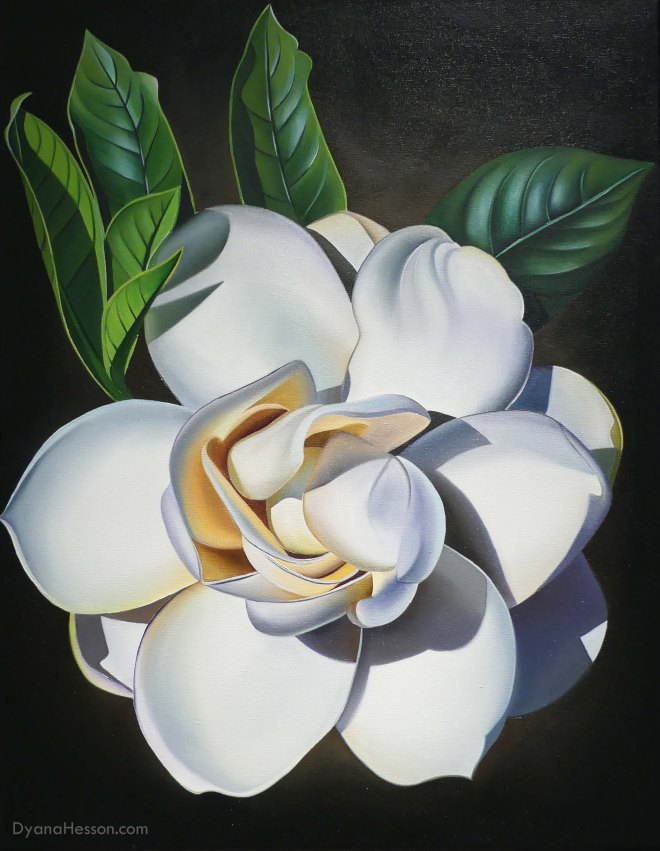 Dyana HessonThe Sweet Smell of Home, Gardenia in Kona 28x22