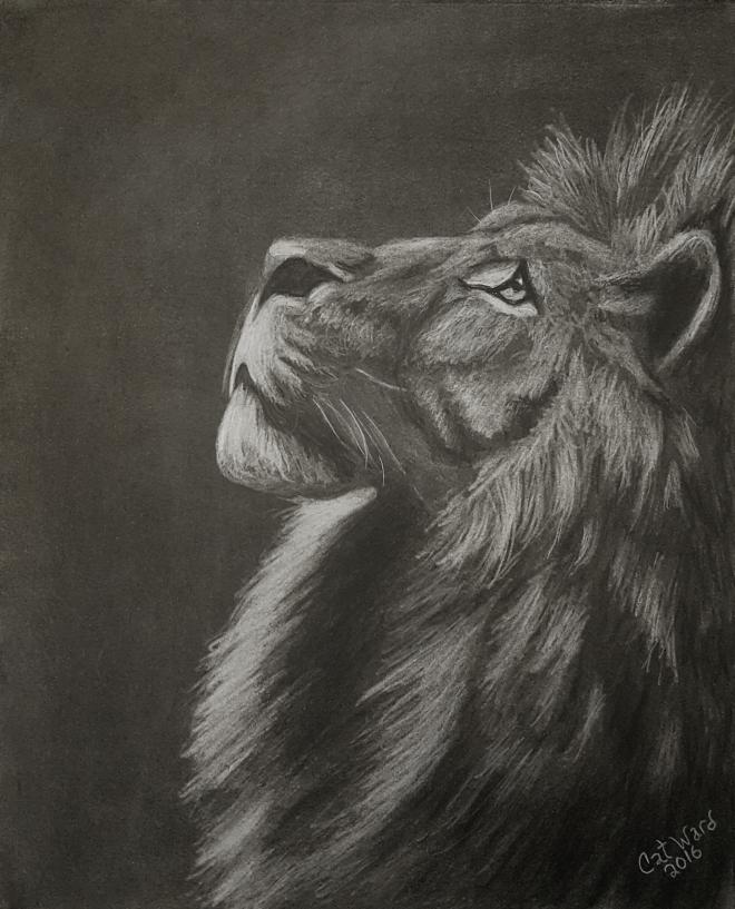 Lion Heart Print