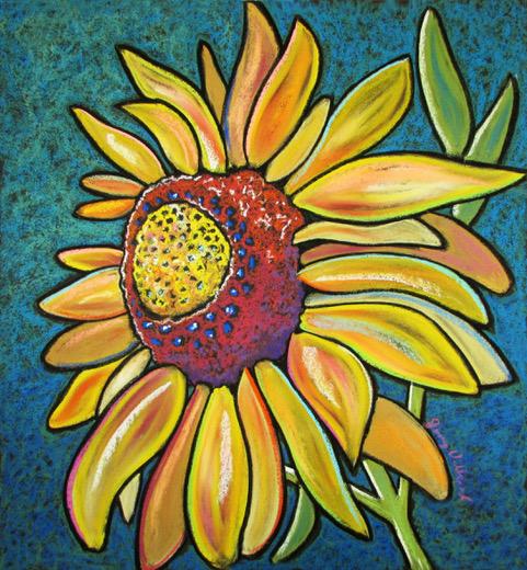 Sunflower in green (1)
