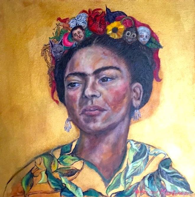 Frida mi vida en un peinado_www.adrianamartinezartist.com copy