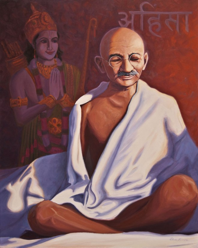 Gandhi in Meditation